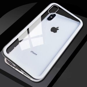 Accessories - Metal Frame with Tempered Glass BaCase for iPhone